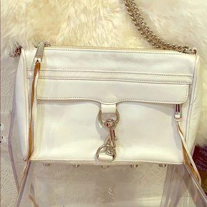 M.A.C. Rebecca Minkoff crossbody. White leather